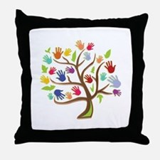 Tree Of Hands Throw Pillow