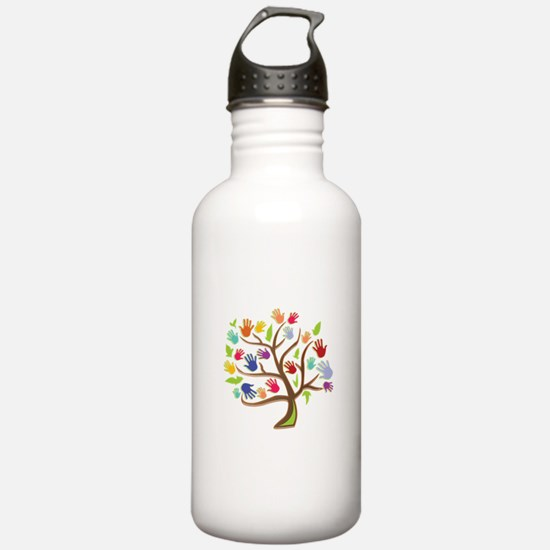 Tree Of Hands Water Bottle
