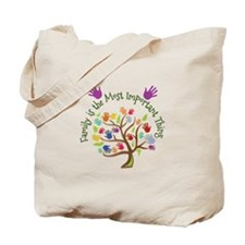 Family Is Important Tote Bag