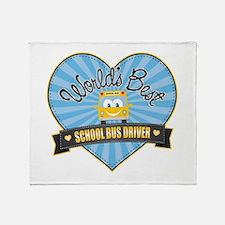 Best School Bus Driver Throw Blanket