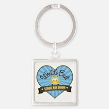 Best School Bus Driver Square Keychain