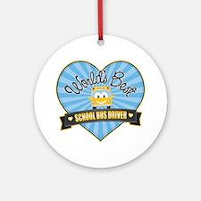 Best School Bus Driver Ornament (Round)