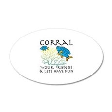 Corral Your Friends Wall Decal