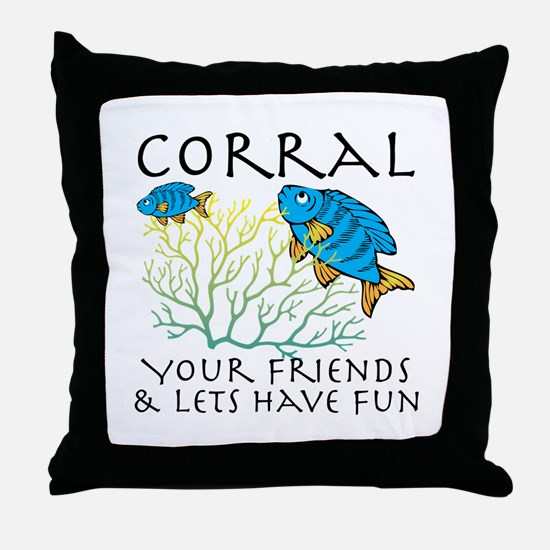 Corral Your Friends Throw Pillow