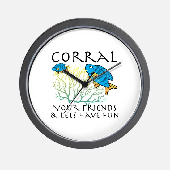 Corral Your Friends Wall Clock