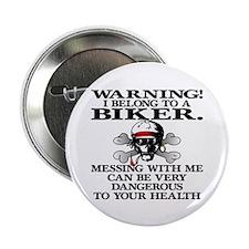 """I Belong To A Biker 2.25"""" Button (10 pack)"""