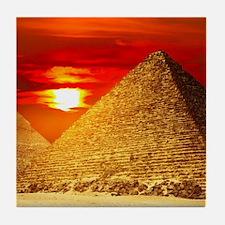 Egyptian Pyramids At Sunset Tile Coaster