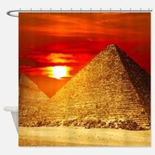 Egyptian Pyramids At Sunset Shower Curtain