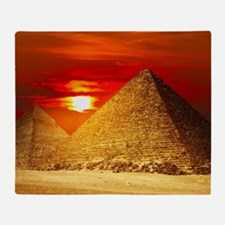 Egyptian Pyramids At Sunset Throw Blanket