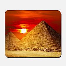 Egyptian Pyramids At Sunset Mousepad
