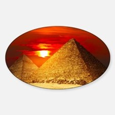 Egyptian Pyramids At Sunset Decal