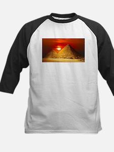 Egyptian Pyramids At Sunset Baseball Jersey