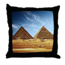 Egyptian Pyramids and Camel Throw Pillow