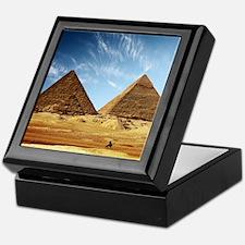 Egyptian Pyramids and Camel Keepsake Box