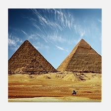 Egyptian Pyramids and Camel Tile Coaster