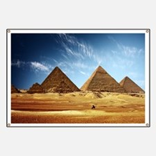 Egyptian Pyramids and Camel Banner