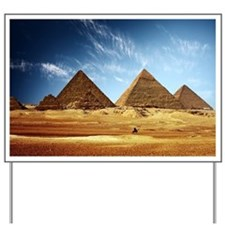 Egyptian Pyramids and Camel Yard Sign