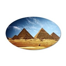Egyptian Pyramids and Camel Wall Decal