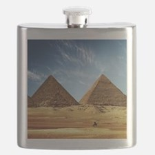 Egyptian Pyramids and Camel Flask
