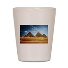 Egyptian Pyramids and Camel Shot Glass
