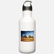 Egyptian Pyramids and Camel Water Bottle