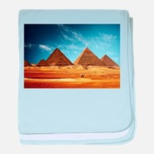 Egyptian Pyramids and Camel baby blanket
