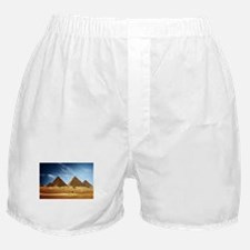 Egyptian Pyramids and Camel Boxer Shorts