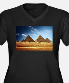 Egyptian Pyramids and Camel Plus Size T-Shirt