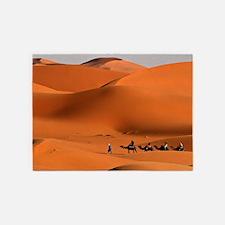 Camel Caravan In The Desert 5'x7'Area Rug