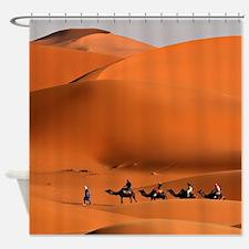 Camel Caravan In The Desert Shower Curtain