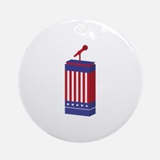 American Podium Ornament (Round)