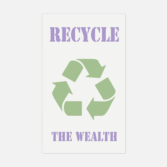 Recycle the Wealth Sticker (Rectangle)