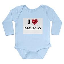 I Love Macros Body Suit
