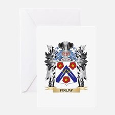 Finlay Coat of Arms - Family Crest Greeting Cards