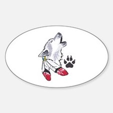 WOLF AND PAW PRINT Decal