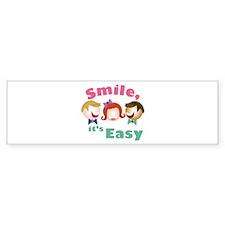 Smile Its Easy Bumper Bumper Sticker