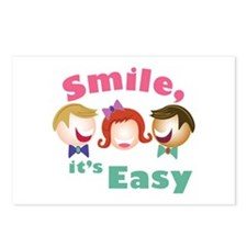 Smile Its Easy Postcards (Package of 8)