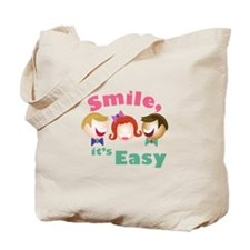 Smile Its Easy Tote Bag