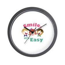 Smile Its Easy Wall Clock
