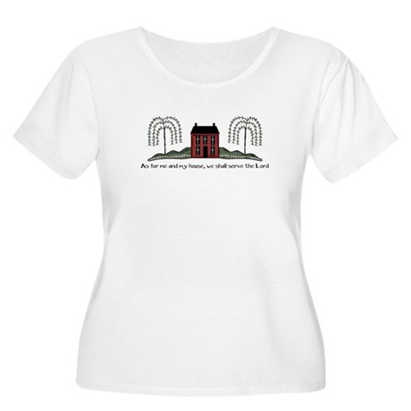 Serve the Lord Women's Plus Size Scoop Neck T-Shir