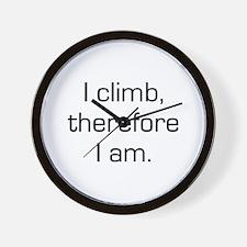 I Climb Therefore I Am Wall Clock