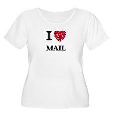 I Love Mail Plus Size T-Shirt