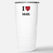 I Love Mail Stainless Steel Travel Mug