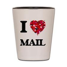 I Love Mail Shot Glass