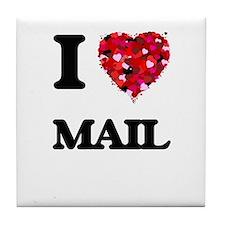 I Love Mail Tile Coaster