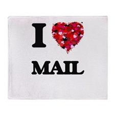 I Love Mail Throw Blanket