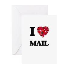 I Love Mail Greeting Cards