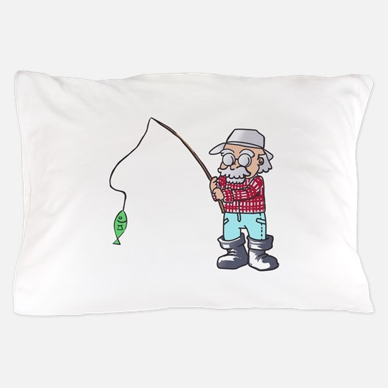 MAN FISHING Pillow Case