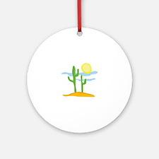 Desert Cactus Ornament (Round)