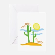 Hot To Trot Greeting Cards